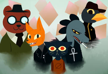 Night in the woods by GrimmSkitz