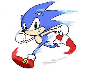 Sonic on Gimp by luiginotafraid