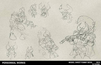 Model sheet Devil by picksel