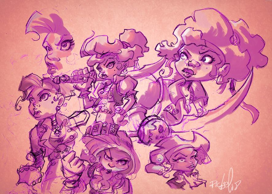 Pirates girl(s) characters by picksel