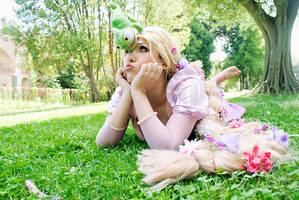 'What? Pascal!' Princess Rapunzel by CrazyMonkey87