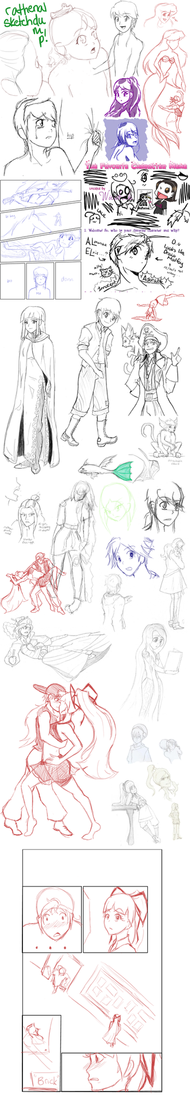 RIDICULOUS Sketchdump '11 by rathenal