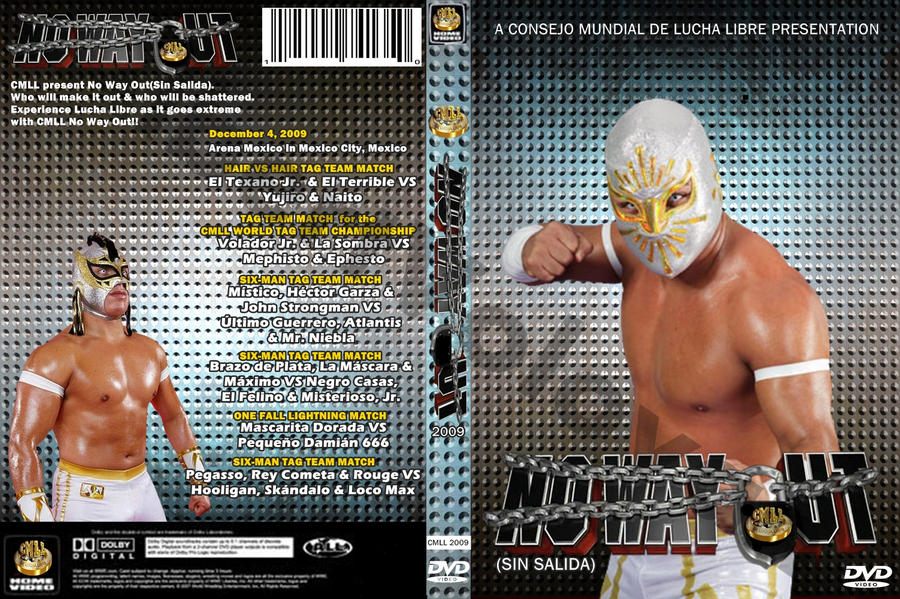 CMLL No Way Out 2009 (WWE Style DVD Cover) by AlbertVolovan