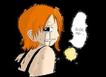 Nami en pleurs by lilas11
