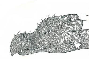Dragon head  by lilas11