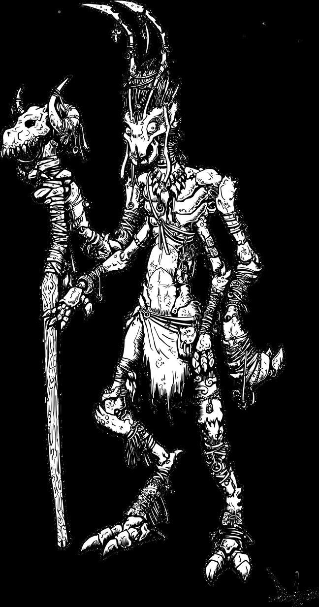 Thri-Kreen shaman by Dado0016