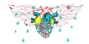 L.A. Heart Chest Tattoo