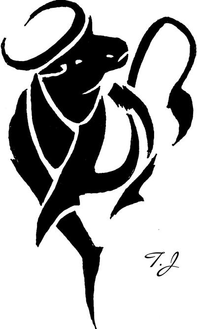 taurus tribal by silgan on deviantart