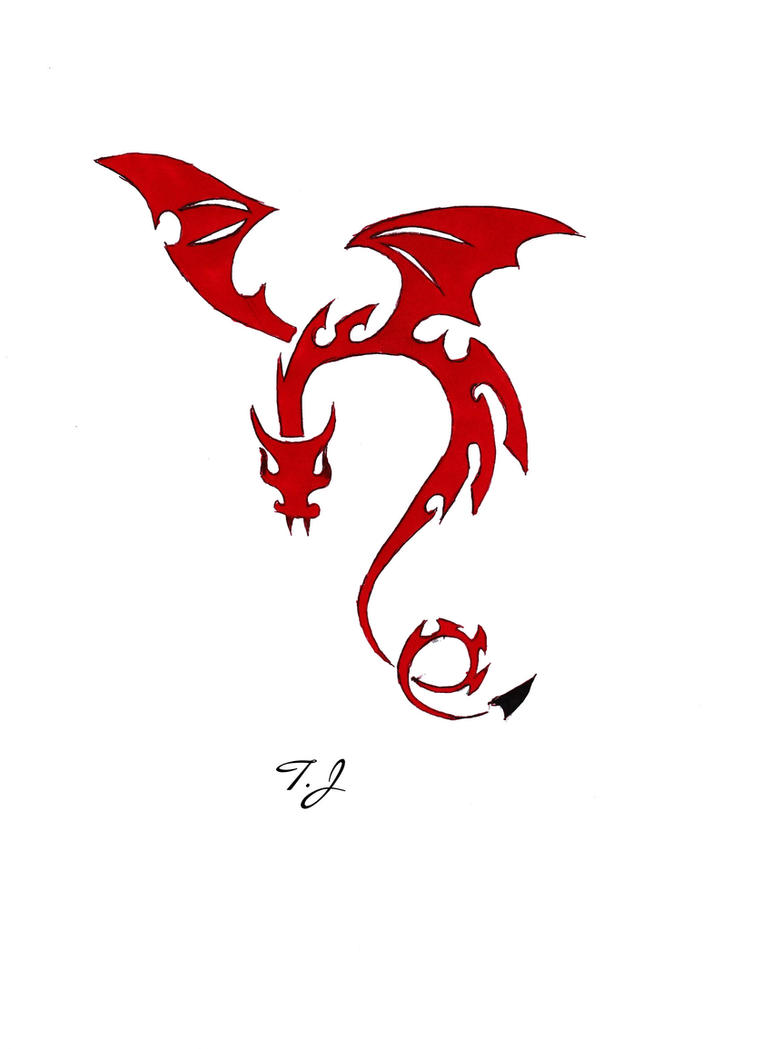 Red Dragon Tribal by Silgan