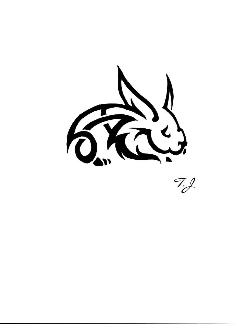 Tribal Rabbit Tattoo Designs