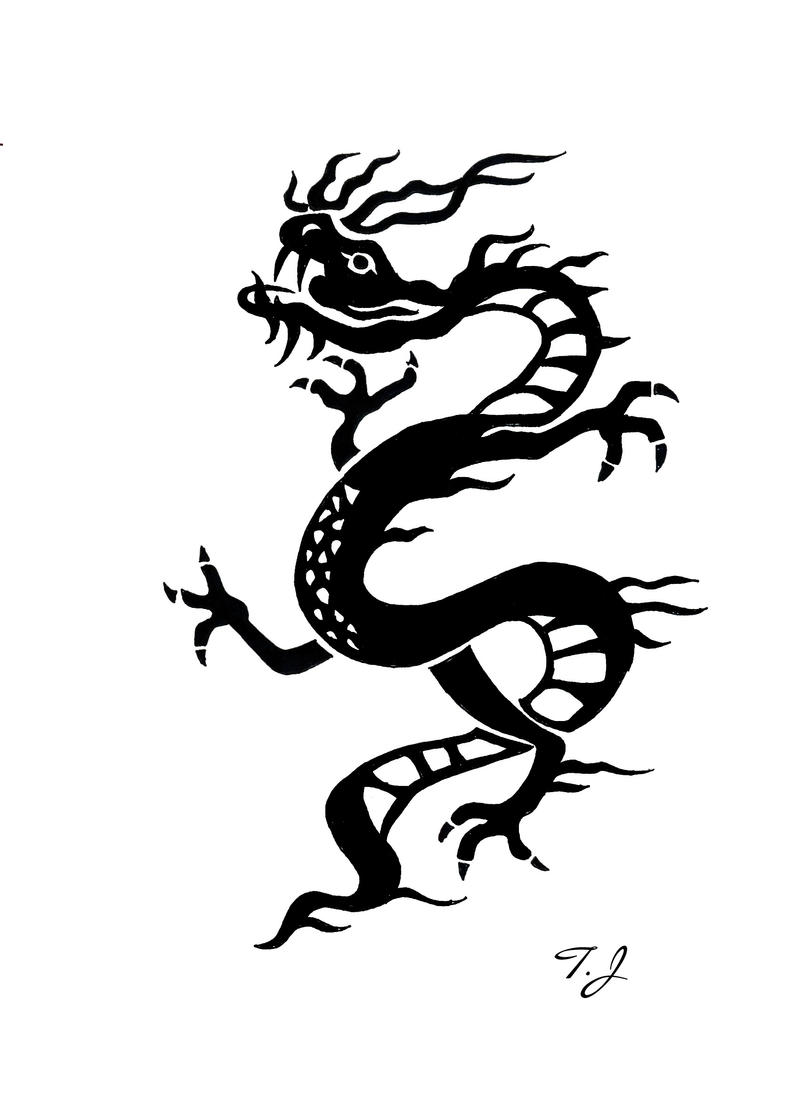 chinese dragon tribal by silgan on deviantart. Black Bedroom Furniture Sets. Home Design Ideas