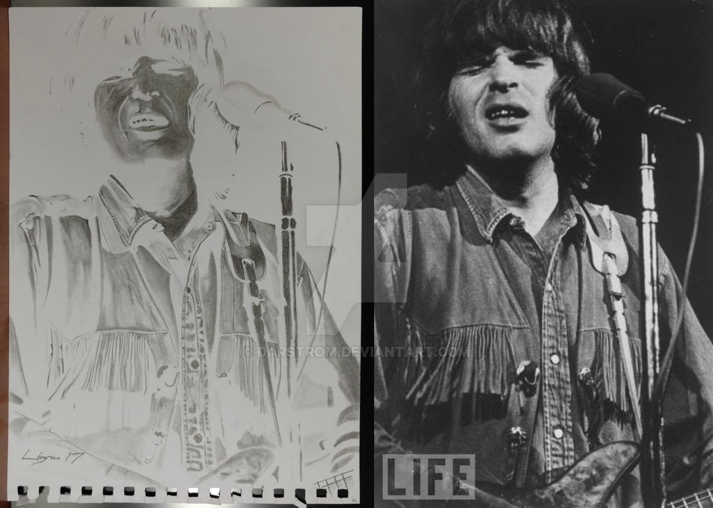 John Fogerty drawing and negative by Darstrom