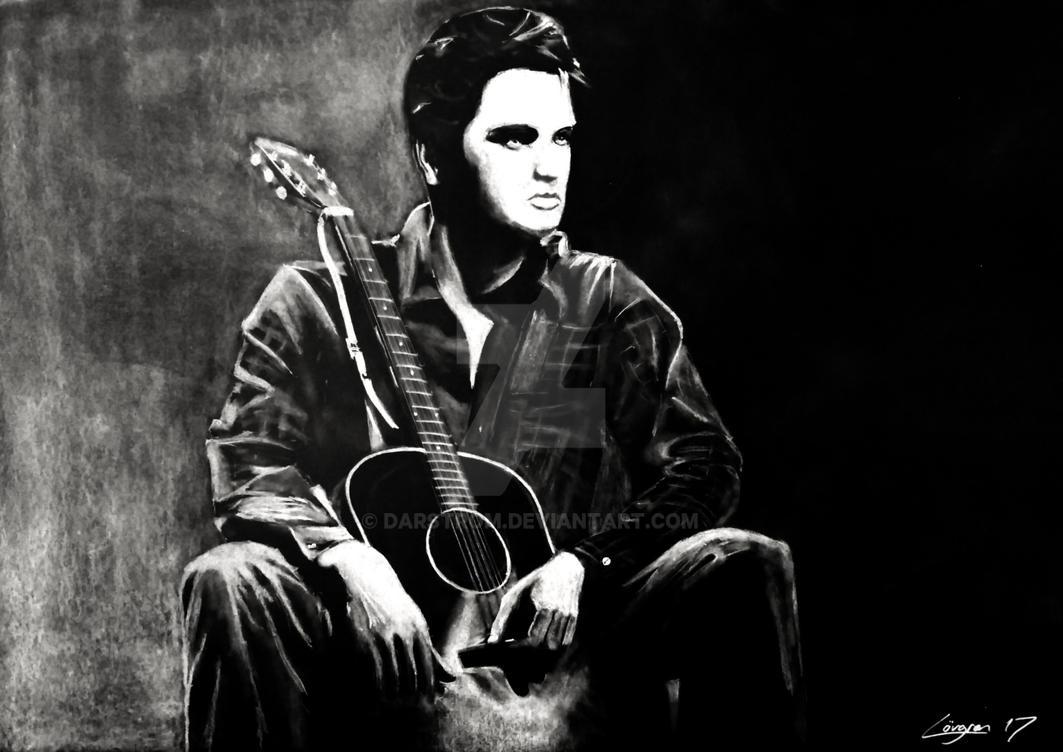 Elvis Presley drawing (tweaked) by Darstrom