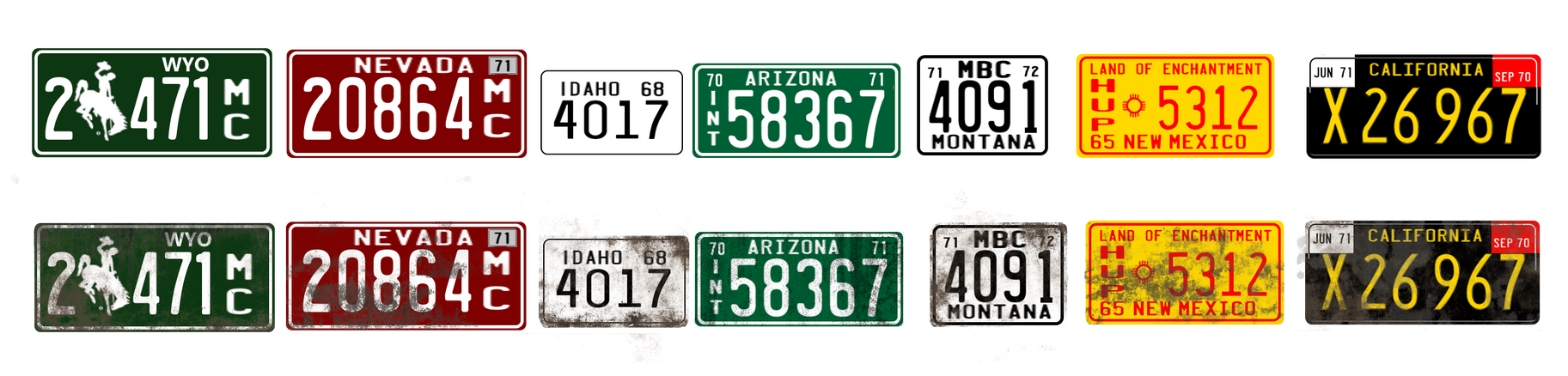 Duel truck licence plates by Darstrom