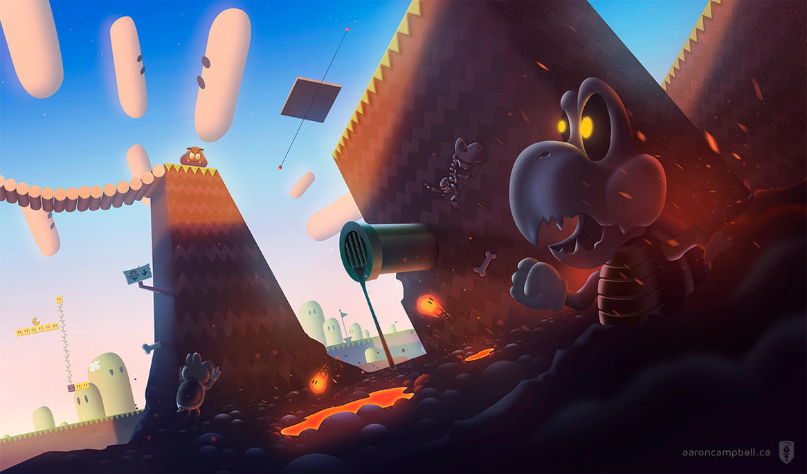 Bottom of the Pit - Super Mario World by Ecstatic-ectsy