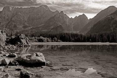 Fusine lake BW by sket88