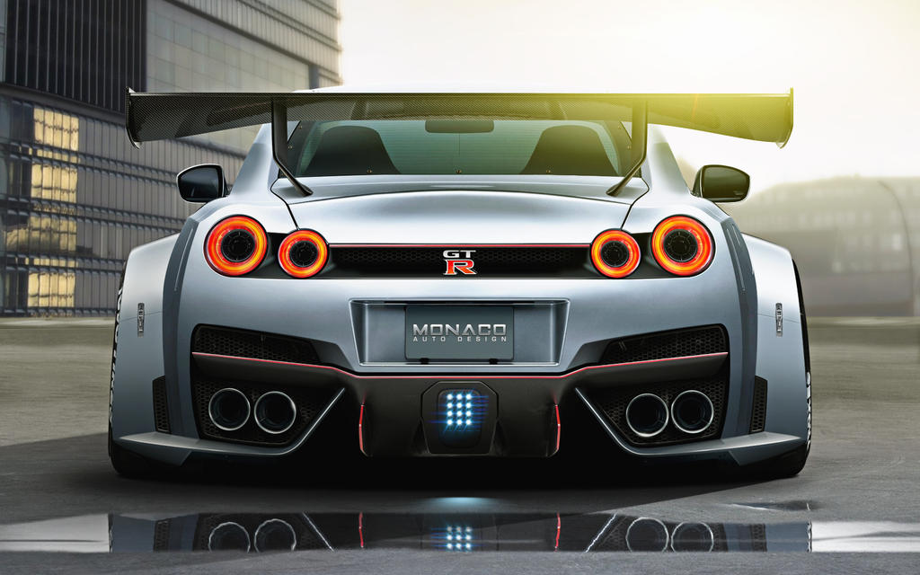 widebody nissan gtr r35 rear by monacoautodesign on deviantart. Black Bedroom Furniture Sets. Home Design Ideas