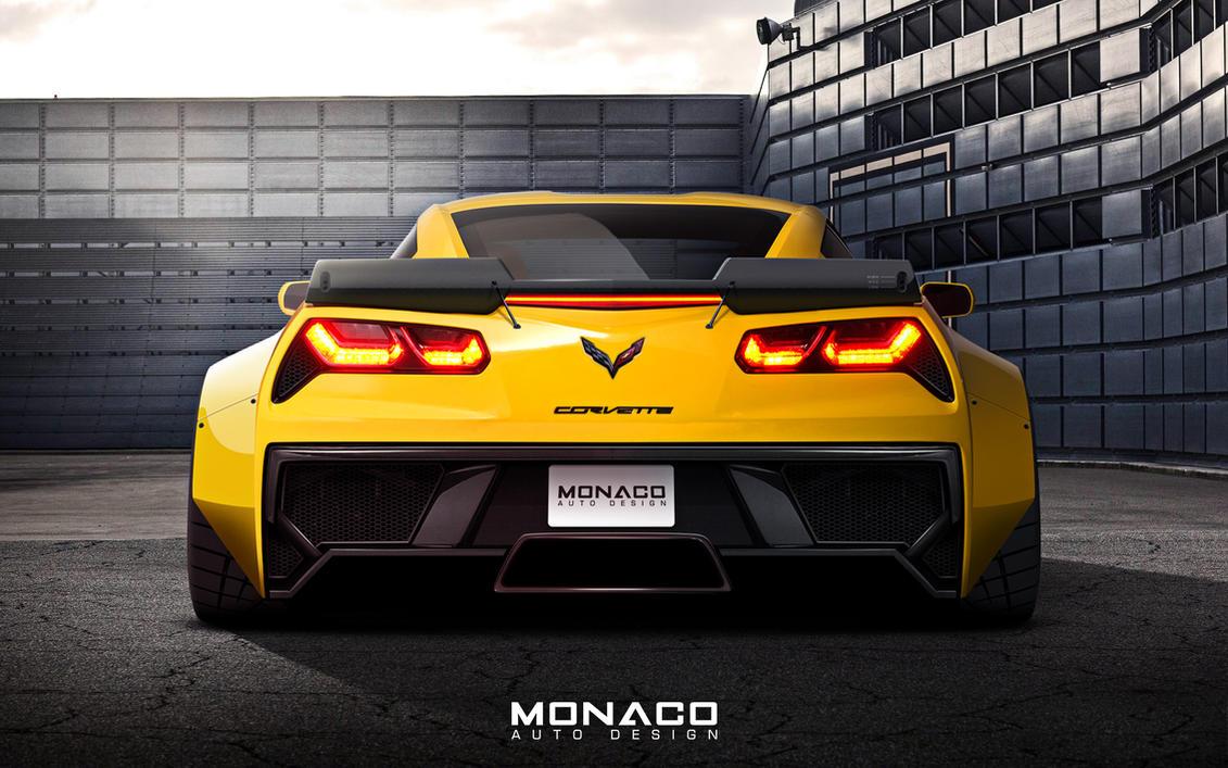 Widebody C7 Corvette Z06 Rear By Monacoautodesign On