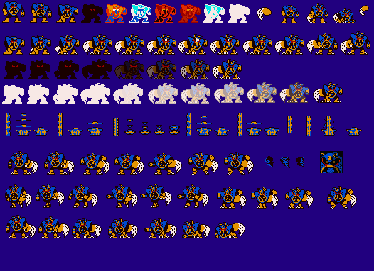 Airman.EXE Werewolf 8-bit spirite sheet (Not done) by Airman-EXE