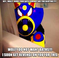 Wolfy wants NO Baths Meme by AirWolf-Animatronic