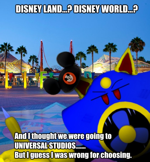 I thought we were going to Universal Studios by AirWolf-Animatronic
