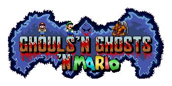 Ghouls'n Ghost'n Mario logo by AirWolf-Animatronic