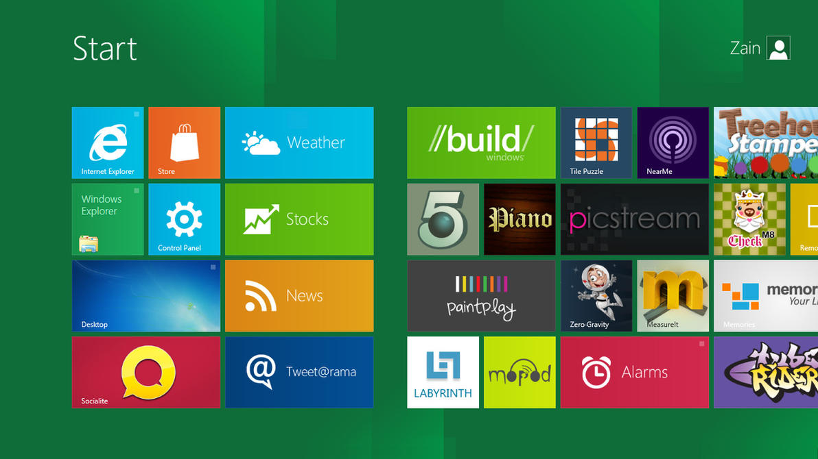 Windows 8 Running App Indicatr by zainadeel