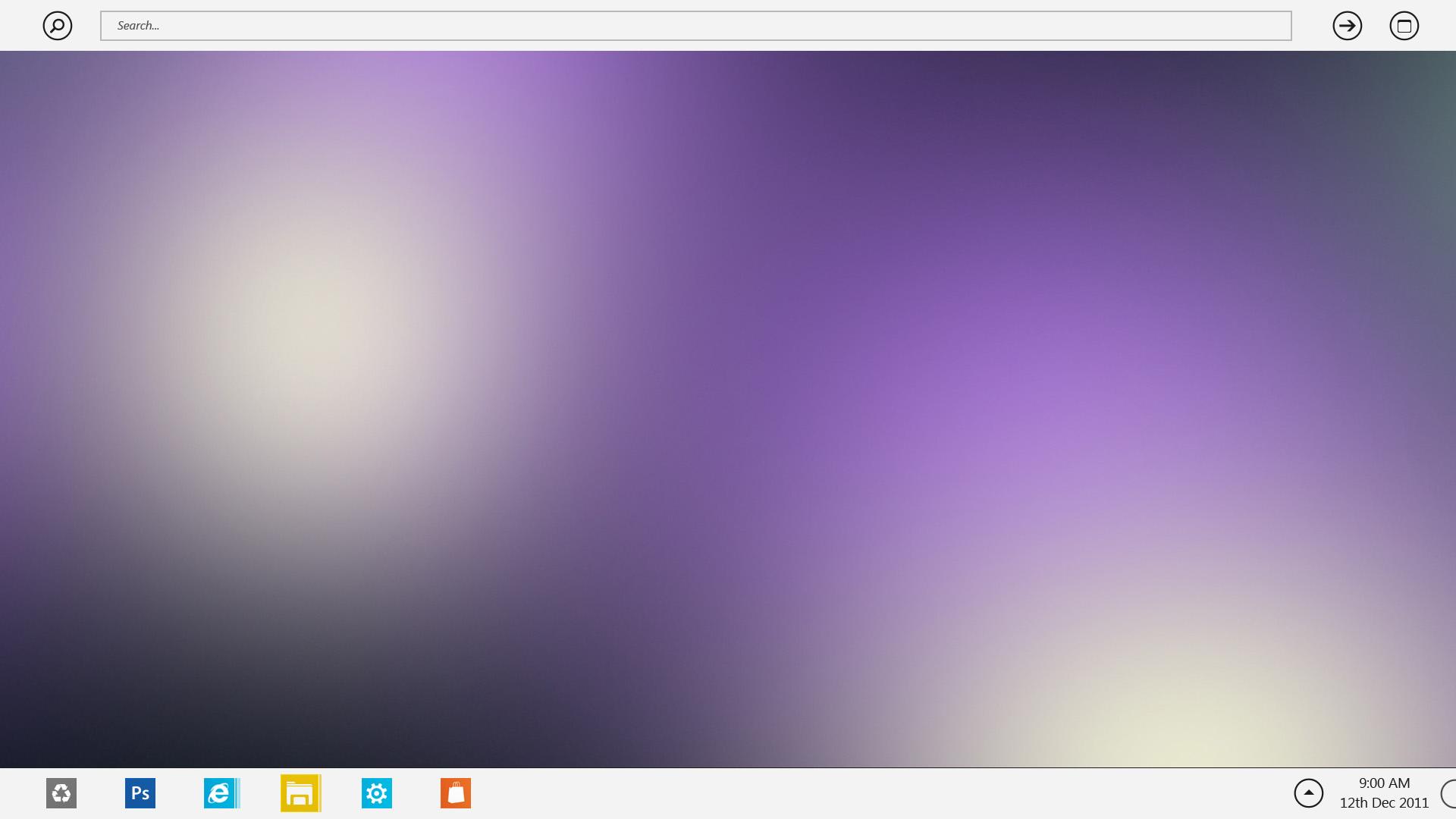 Windows 8 searchbar light by zainadeel