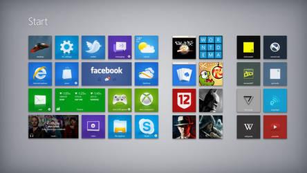 Start Screen unmetro by zainadeel