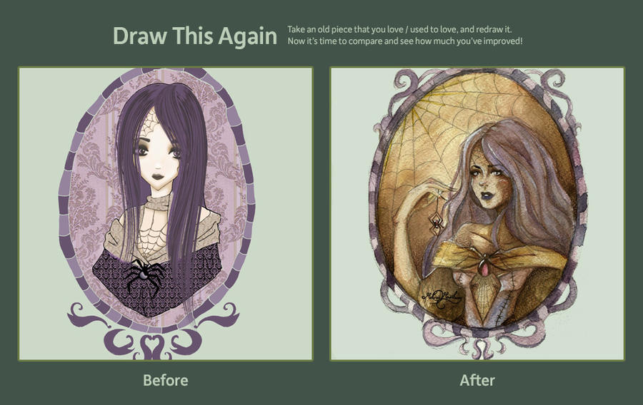 Miss Aracne (draw this again contest) by Alice-Moonberry