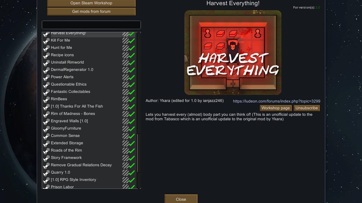Rimworld inventory mod