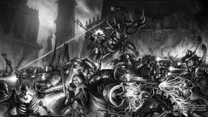 In darkness we stand - Warhammer 40,000 Fan Art