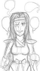 Pencil Sketch 5: Kiraki by Cassiusthedemon