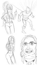 Pencil Sketches 7 by Cassiusthedemon