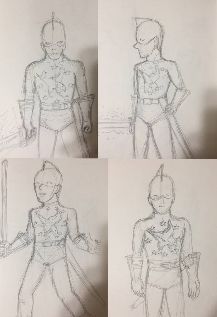 Pencil Sketches 11: Man of War sketches by Cassiusthedemon