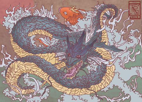 Gyarados-Dragon and Koi