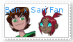 Ben x Sari stamp by oOAscendOo