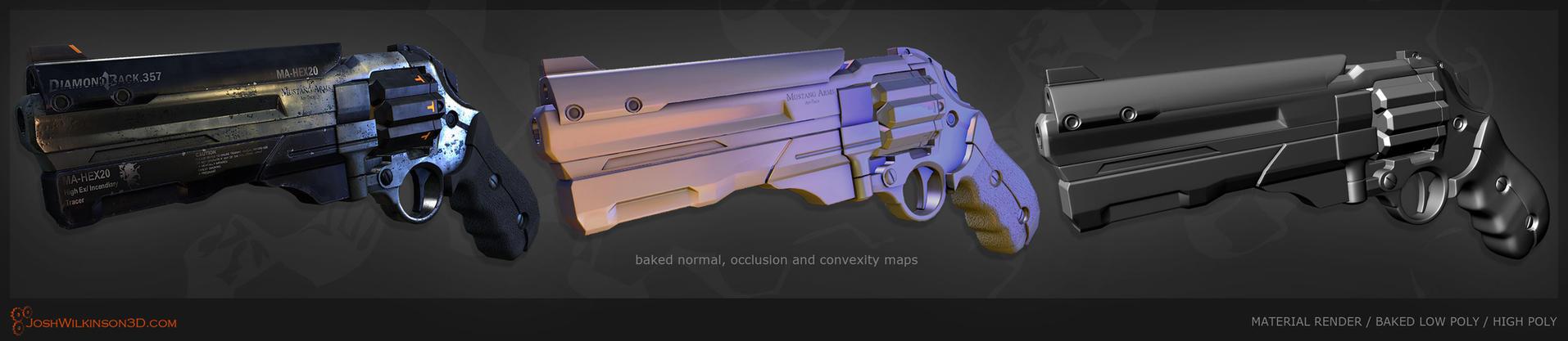 Sci-Fi Revolver [meshes] by BringMeASunkist