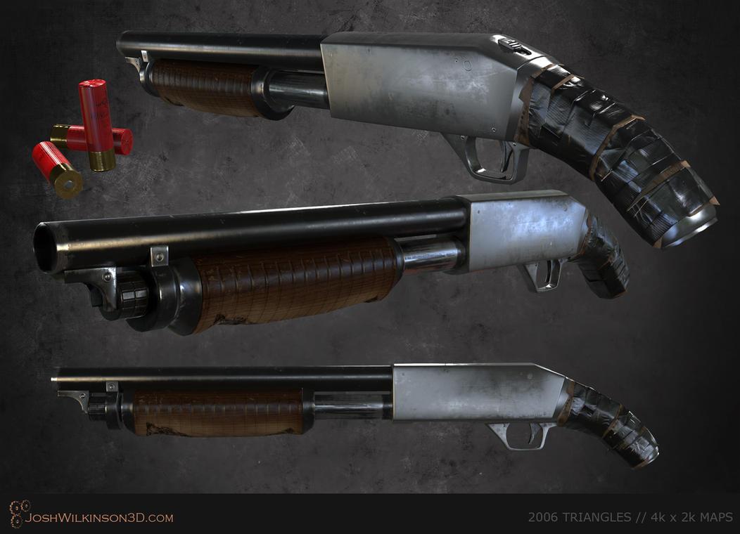 Sawed-Off Shotgun [renders] by BringMeASunkist