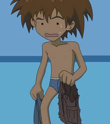 Taichi in his underwear