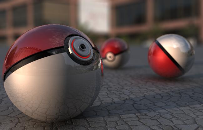 Realistic Clean Pokeballs by FinnAkira