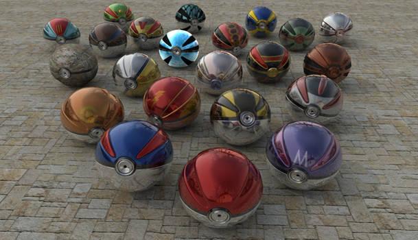 All Kind Of Realistic Pokeballs (V3)