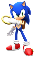 Modern Sonic with SatAM Style by FinnAkira