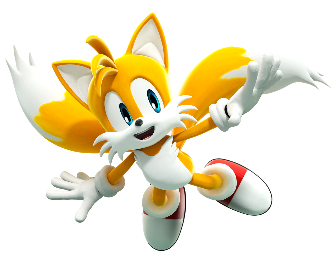 Tails Flying (Recreated Pose) Upgraded by FinnAkira on DeviantArt