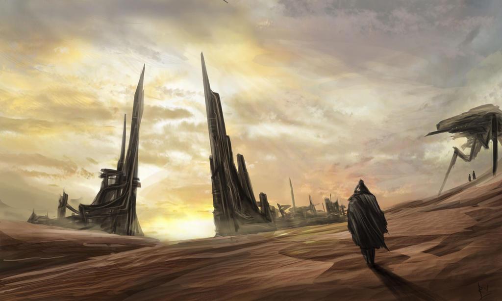 Sci-fi Desert by RobinWouters on DeviantArt
