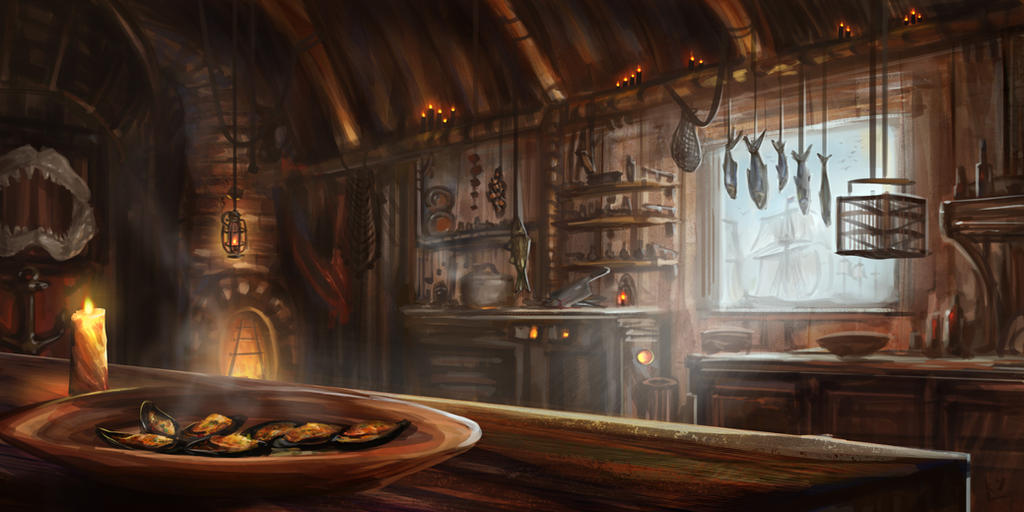 Beautiful Seaside Tavern Kitchen By Lnsan1ty ...