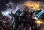 Warhammer 40k Book Cover Illustration
