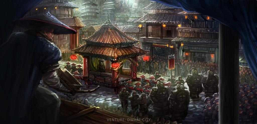 Zhongjie City Concept Art By Ruoyuart On Deviantart