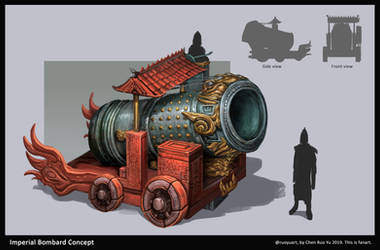 Cathay Imperial Bombard Concept Art by ruoyuart