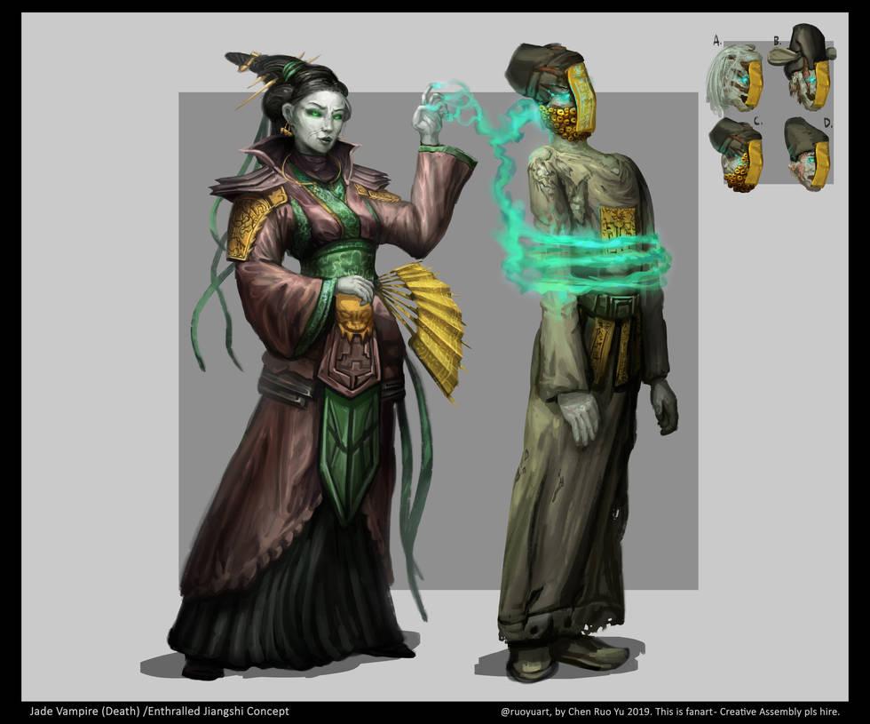 Cathay Jade Vampire Concept Art by ruoyuart